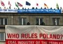 La protesta di Greenpeace in Polonia