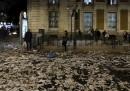 La spazzatura nelle strade di Madrid