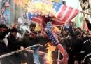 La manifestazione anti-USA a Teheran