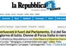 Le homepage sulla decadenza di Berlusconi