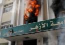 Gli scontri all'università Al-Azhar, al Cairo