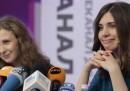 La prima conferenza stampa delle Pussy Riot