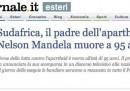L'incidente dei giornali italiani su Mandela