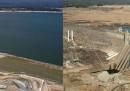 La foto della diga di Folsom, prima e dopo la siccità