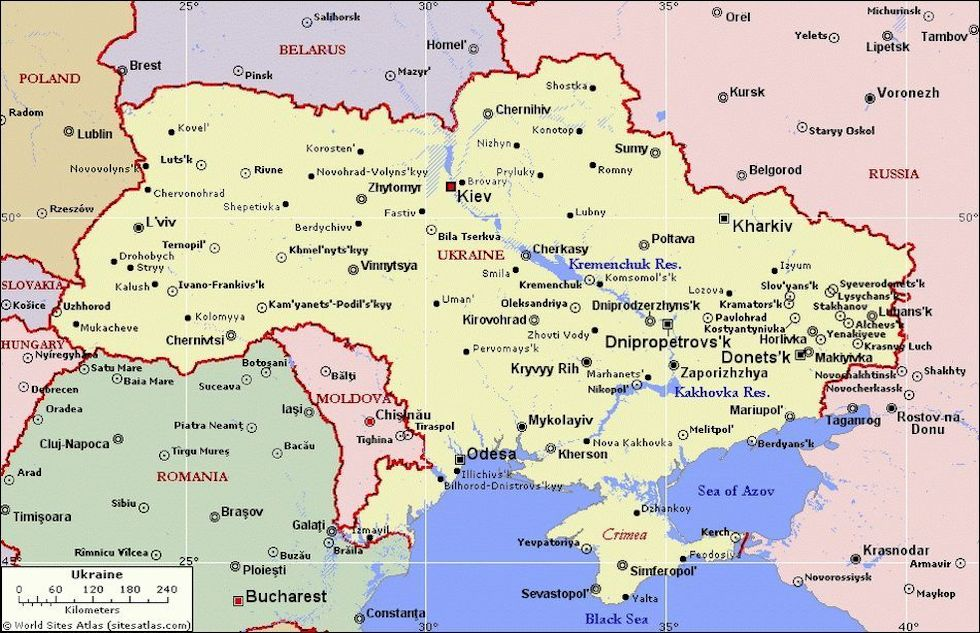 Cartina Geografica Russia Ucraina.In Ucraina Non E Finita Il Post