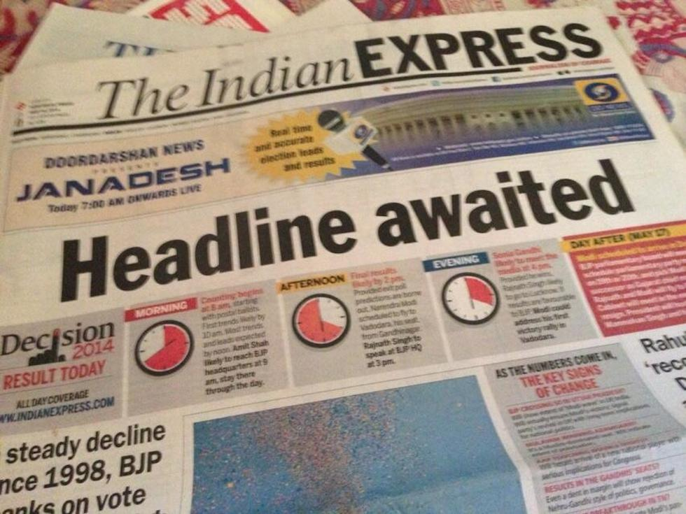Indian Express elezioni