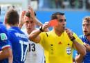 L'espulsione di Marchisio, in Italia-Uruguay