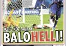 Le prime pagine inglesi su Italia-Inghilterra