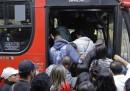 Lo sciopero della metro a San Paolo