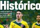 Le prime pagine colombiane sulla vittoria contro l'Uruguay