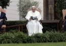 L'incontro in Vaticano tra il Papa, Abu Mazen e Shimon Peres