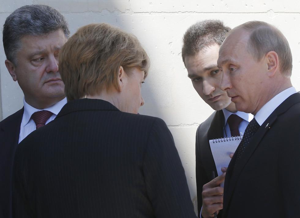 Putin e Poroshenko in Francia