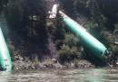 È deragliato un treno che trasportava fusoliere di Boeing 737