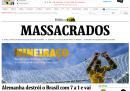 Le homepage dei giornali tedeschi e brasiliani