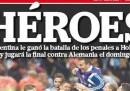 Le prime pagine in Argentina e Olanda