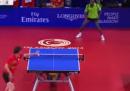 Lo scambio da 41 colpi in una partita di ping pong
