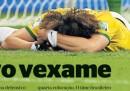 Le prime pagine brasiliane sul disastroso finale del Mondiale del Brasile