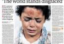 La prima pagina del Guardian su Gaza