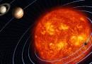 Le superfici di tutte le cose solide del sistema solare, messe insieme