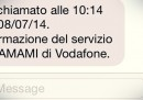 Gli avvisi di chiamata via SMS diventano a pagamento per i clienti TIM e Vodafone