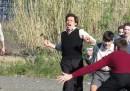 Le foto del film su Pasolini con Willem Dafoe