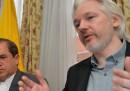 La conferenza stampa di Assange