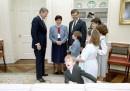 Ronald Reagan photobombed