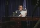 I minuti precedenti alle dimissioni di Richard Nixon, recitati