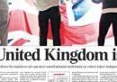 Le prime pagine dei giornali britannici