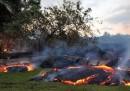 La colata di lava alle Hawaii