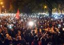 Le proteste a Budapest contro la tassa su Internet