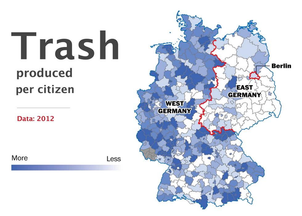 Cartina Germania Est E Ovest.La Germania E Ancora Divisa Il Post