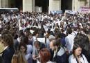 Le proteste per il pasticcio ai test di Medicina
