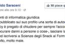 Il messaggio di un docente universitario agli studenti che pubblicano il messaggio bufala di Facebook