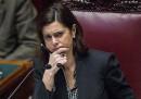 Laura Boldrini ai deputati di SEL: «Non si lanciano fiori in aula!»
