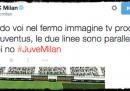 Il discusso tweet del Milan sul fermo-immagine nell'azione del primo gol della Juventus