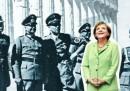 La copertina dello Spiegel con Angela Merkel e gli ufficiali nazisti