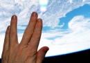 La foto scattata dalla Stazione Spaziale Internazionale per Leonard Nimoy