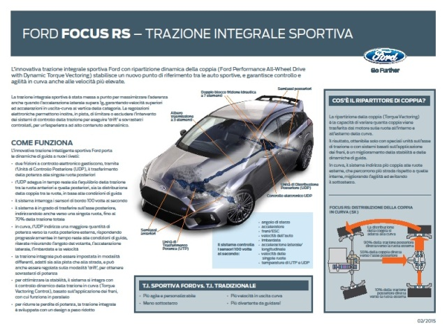 Ford Focus RS - Trazione integrale