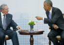 Lo storico incontro tra Obama e Castro