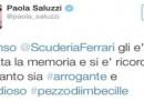 La giornalista Paola Saluzzi è stata sospesa da Sky a causa di un tweet su Fernando Alonso