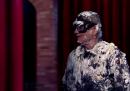 Bill Murray salta fuori da una torta per David Letterman