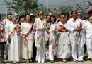 Le attiviste che hanno attraversato il confine tra le due Coree
