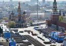 L'enorme parata per il Giorno della Vittoria, a Mosca