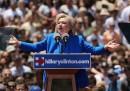 Il primo grande comizio di Hillary Clinton