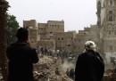 Le foto della città vecchia di Sana'a distrutta