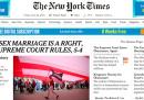 Le homepage dei siti di news americani sulla legalizzazione dei matrimoni gay