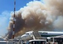 C'è stato un incendio vicino all'aeroporto di Roma Fiumicino