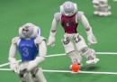 Le foto dei mondiali di calcio per robot