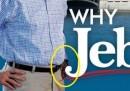 Il goffo fotomontaggio su un volantino elettorale di Jeb Bush
